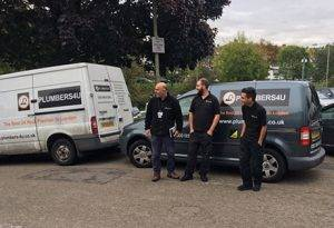 plumber london team with van