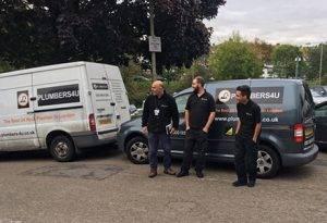 plumber london team with van